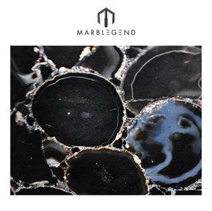لامعة و Sparkly ديكور المنزل حجر العقيق الأسود