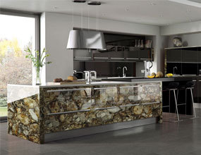 natural stone Jasper kitchen countertop