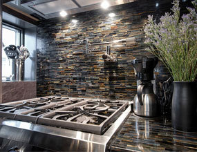 Rainbow Jasper Tiger eye kitchen counterop Wes Village-Jewel wall