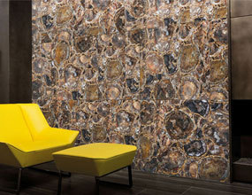 villa Interior Natural Jasper Wall Panel Design