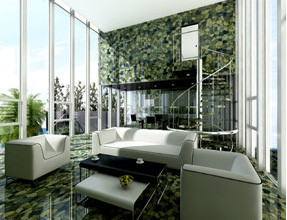 Green jasper luxury stone interior design
