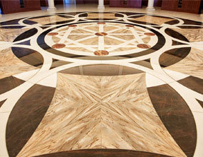 Modern Marble Flooring Medallion Design