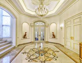 home marble floor design waterjet flooring design
