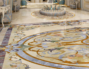 residential_marble_waterjet floor