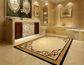 home marble floor design waterjet medallion