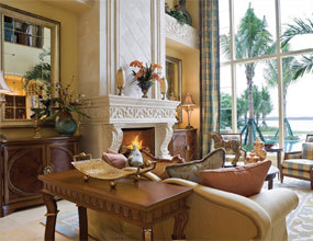 Natural Indoor French Style Marble Fireplace Mantel