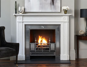 Simple Design Free Standing Marble Fireplaces Mantel