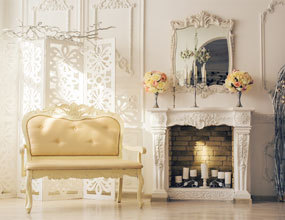 New Style Carved Statuary Marble Fireplace Surround Mantel