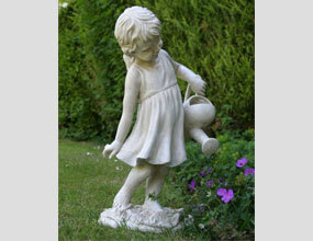 Custom Garden Embellish Sculpture Girl Cute Stone Statue