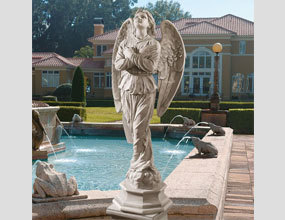 Professional Life Size Angel Marble Statue With High Quality