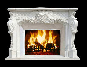 Louis XV style  Marble Fireplace
