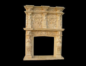 Two-tier Marble Fireplace