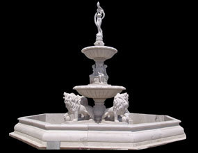 Lion Marble Water Fountain