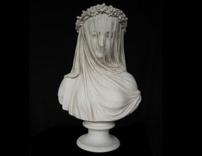 Veiled Lady Marble Bust Sculpture