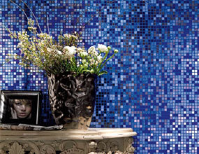 Sea Blue Dreaming House Wall Decor Glass Mosaic Tile