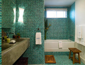 Customized Design Green Glass Mosaic For Mural Decor