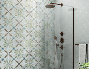 Diamond Patterns Ideas White Mix Golden Crystal Mosaico de vidrio