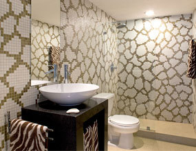 Irregular Glass Crystal Design For Shower Wall Decor