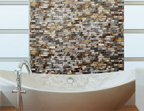 Modern Shell Mosaic Bathroom Wall Tile