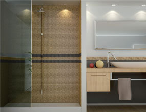 Shinging Wall Design Customized Wooden Mosaic Tile