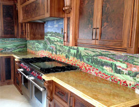 Beautiful Pattern Kitchen Design Mosaic Backsplash Tile