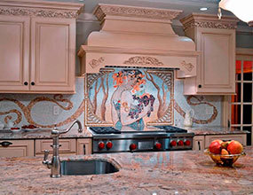 Original Alison Solar Glass Mosaic Kitchen-Backsplash