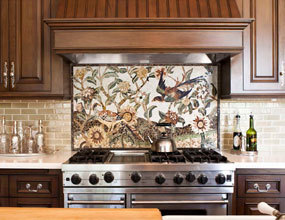Traditional Kitchen Design Waterjet Mosaic Tile Pattern