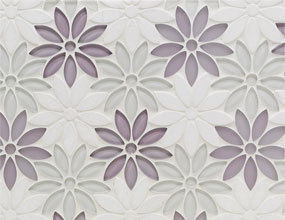 Waterjet Flower Glass Mosaic
