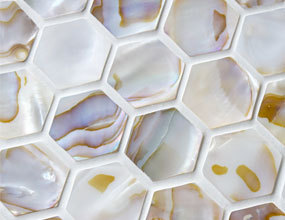 Mosaico Shore Seashell en Natural