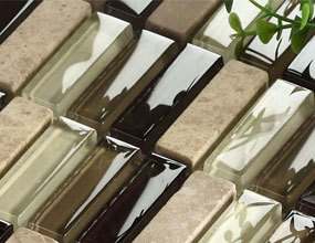 Natural Stone and Glass Mosaic Sheets