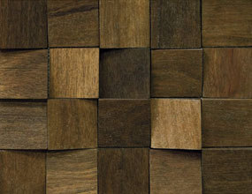 Square Wood Mosaic Tile