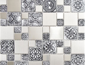 Random Sized Metal Mosaic Tile