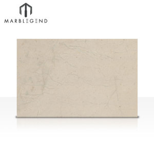 Natural Polished Bursa Beige Marble Floor Tiles Light Beige Marble Slabs
