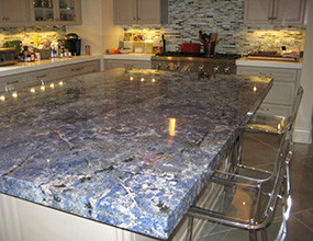 Blue Bahia Granite Countertop Traditional-Kitchen