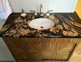 Magma Black Granite  Traditional-Bathroom vanitytop (2)