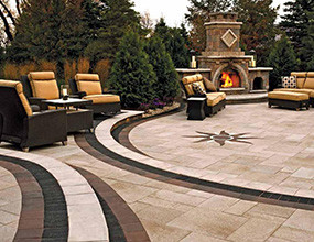 Paving Stones Granite Plaza Suelo