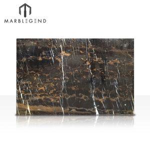 Azulejos de mármol de la losa de mármol Super Extra de mármol negro aflorado de Afganistán