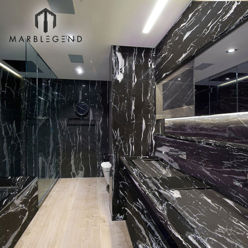إيطاليا نيرو سيلفر بورتورو ماربل بلاس PFM Silver Dragon Black Marble