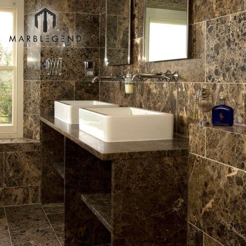 Turquía Emperador Dark Marble Slabs Tiles Dark Brown Marble