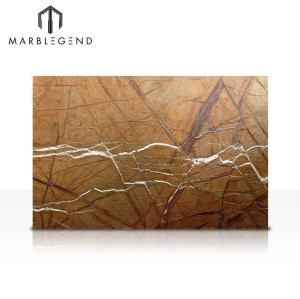 الغابات المطيرة الهندي الرخام البني بلاطة الخشب الملمس الرخام براون البلاط