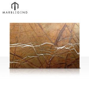 Индийский тропический лес Коричневая мраморная плита Текстура коричневого мрамора