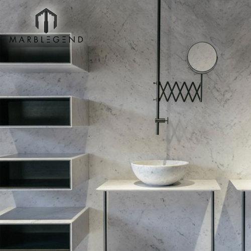 Italy White Marble Bianco Carrara White Polished Marble Slab