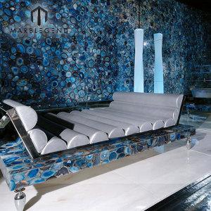 Лучшие идеи о домашнем декоре интерьера Синяя агатовая плитка Каменная цена Агат столешницы