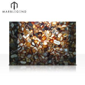 Losas de piedra de ágata brasileña semipreciosas para la decoración de encimeras y paredes