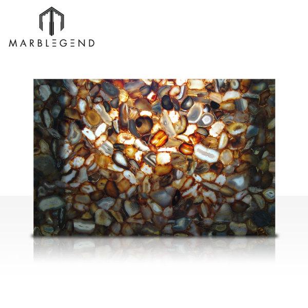 Бразильский Агат Камень Полудрагоценные Плитки Плиты Для Столешницы и Отделка
