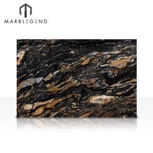 PFM Crystal Fire Granite Magma Black Granite Slabs For Sale
