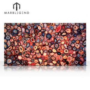Producto caliente de la venta de PFM Golden para los bloques y las losas de piedra de la ágata roja superior de la tabla