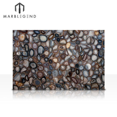 Western Style For Saloon Wall And Bar Top Dedor Natural Agate Stone  Slabs