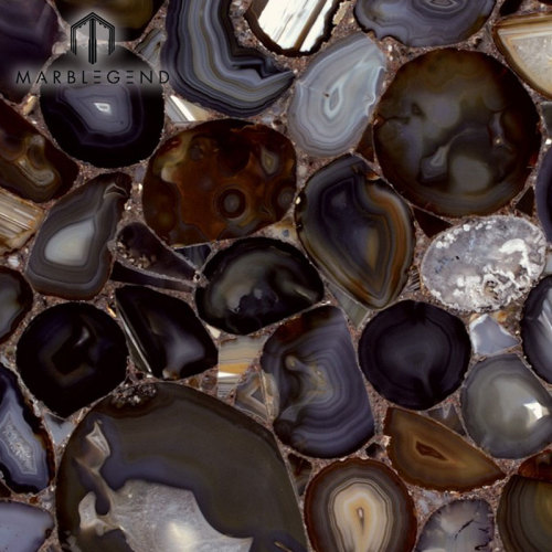 النمط الغربي لصالون الحلاقة والبار أعلى Dedor الطبيعية ألواح حجرية العقيق