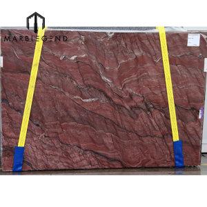 Precio barato del granito de las losas rojas del granito de la fusión de PFM para las encimeras